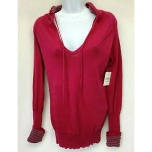 Arizona Top Hoodie Red Striped Accents M